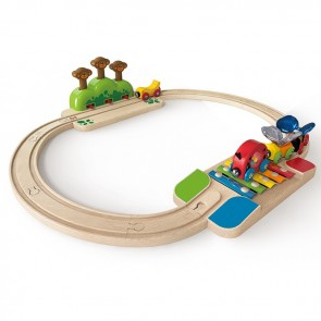 hape train track play set
