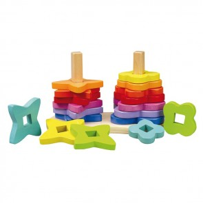 hape wooden puzzle stacker