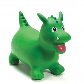 Happy Hopperz Green Dinosaur