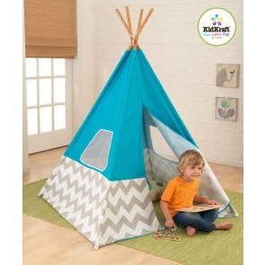 kidkraft kids teepee tent blue