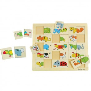 Match and Mix Animals Puzzle Beleduc Toy