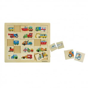 Match and Mix Transport Puzzle Beleduc Toy