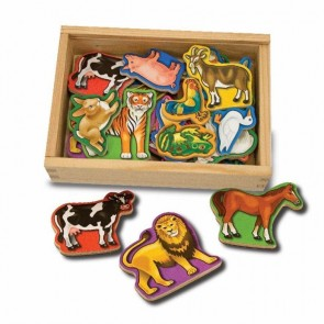 Melissa & Doug 20 Animal Magnets Toy In A Box