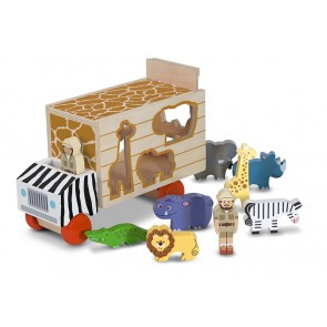 Melissa & Doug Animal Rescue Shape Sorting truck Wooden Toys