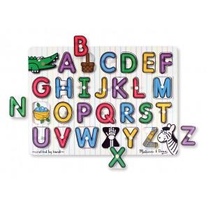 melissa & doug Inside Alphabet Peg Puzzle