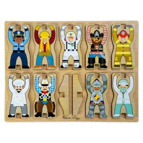 Melissa & Doug Stacking Puzzles Occupations