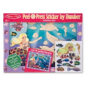 Melissa & Doug Mermaid Reef Peel & Press Sticker by Number