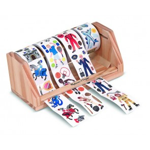 Melissa & Doug - Wooden Sticker Rolls Set - Boy
