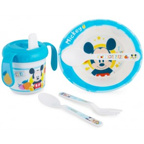 disney baby mickey mouse mealtime set