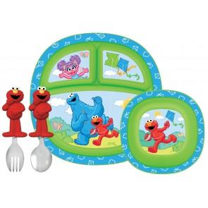 Munchkin Sesame Street Elmo Kids Dining Feeding Set