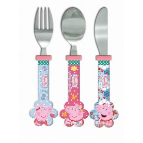 peppa pig cutlery set fork spoon knife