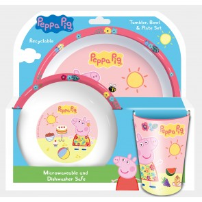Peppa Pig Kids Feeding mealtime Set