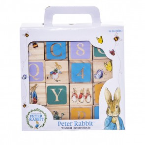 wooden block peter rabbit
