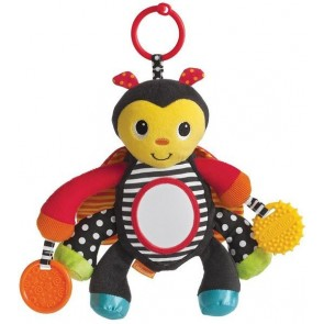 Pull & Play Busy Bug Baby Rattle Toy