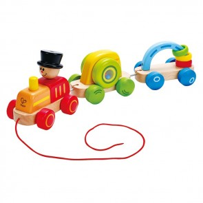 wooden toy train pull