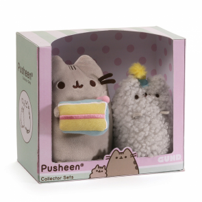 pusheen birthdday collector plush set