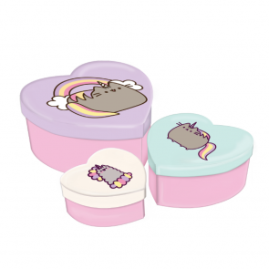 pusheen cat storage box heart shape