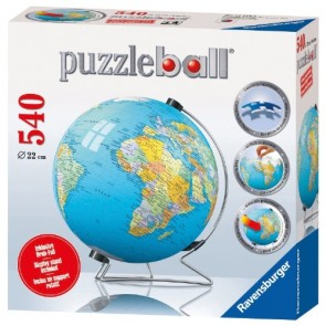 Ravensburger - World Globe 3D PuzzleBall 540 pc
