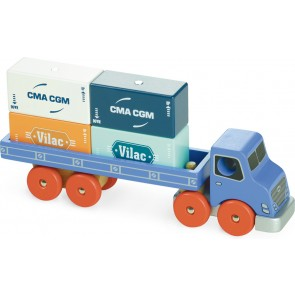 shipping container wooden truck toy