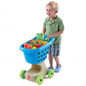 step2 pretend shopping cart blue