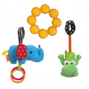 Teether and Animal Stroller Play Set Toy