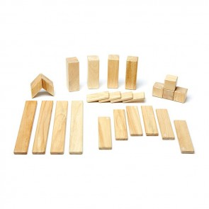 Tegu Magnetic Wooden Blocks Natural 24 Pcs