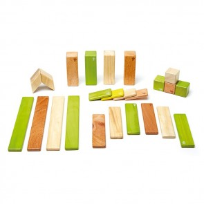 Tegu Magnetic Wooden Blocks Jungle 24 Pieces