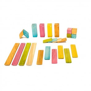 Tegu Magnetic Wooden Blocks Tints 24 Pieces