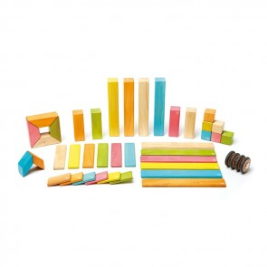 Tegu Magnetic Wooden Blocks Tints 42 Pieces