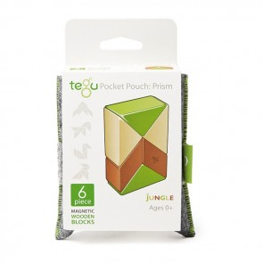 Tegu Pocket Pouch Prism Jungle Wooden blocks
