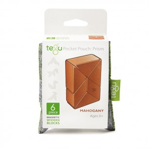 Tegu Pocket Pouch Prism Mahogany 6 Pieces