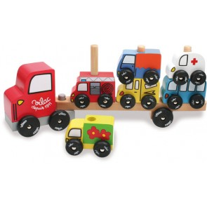 Truck Cars Stacking wooden toy