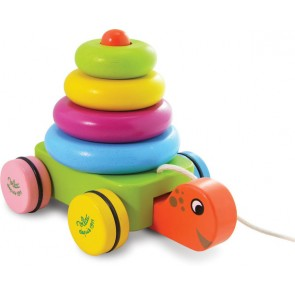 Turtle Stacker Pull along toy by Vilac
