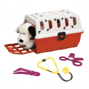 vet kit with cage dog