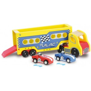 vilac truck racing car toy