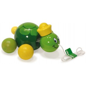 Caroline The Turtle Pull Toy by Vilac