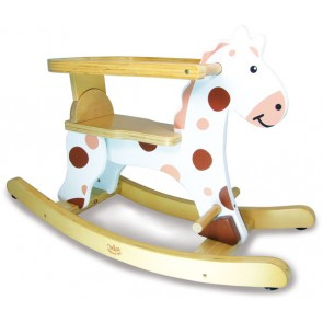 rocking horse white toy vilac
