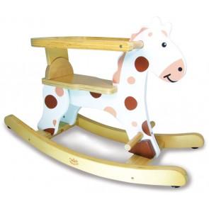 rocking horse white toy vilac
