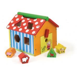 vilac farm shape block learning toy