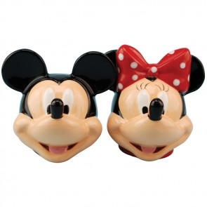Mickey mouse and Minnie Mouse Salt Pepper Shaker ceramic