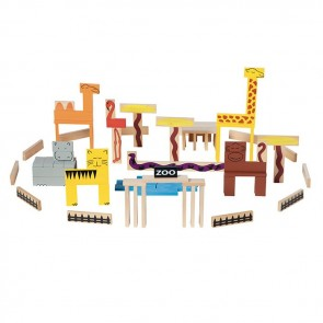 Animal blocks toy wood