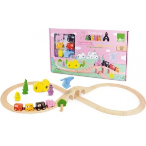 Wooden Train Play  Set by Vilac