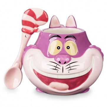Cheshire Cat Mug Spoon Set Ceramic