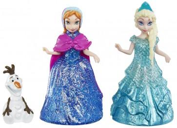 Disney Frozen Princess Elsa Anna Olaf Mini Dolls Set