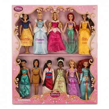 disney princess doll set gift set