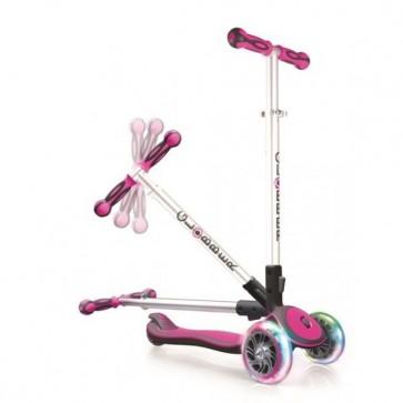 globber 3 wheels scooter pink flash wheels