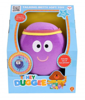 betty octopus TALKING plush HEY DUGGEE