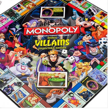 monopoly disney villains game