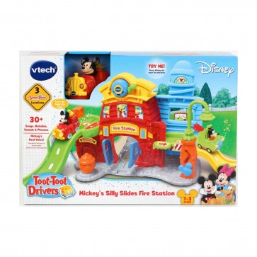 VTech Toot-Toot Drivers Silly Slides Fire Station Mickey Mouse