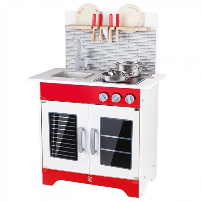 hape white gourmet chef kitchen with accessories hape gourmet kitchen australia wow 9231